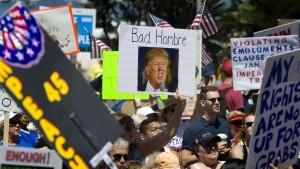 Donald Trump im Feindesland