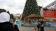 Gerechtigkeit zu Weihnachten: Nahe der Geburtskirche in Bethlehem ist eine politische Botschaft zu lesen.
