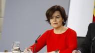 Die stellvertretende Regierungschefin Soraya Sáenz de Santamaría wird als eine mögliche Nachfolgerin Rajoys als Vorsitzende des PP gehandelt.