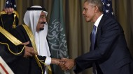 Scheidungsgründe werden ignoriert: König Salman und Präsident Obama im November auf dem G-20-Gipfel in Antalya