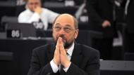 Ein Archivbild von Martin Schulz im Europaparlament.