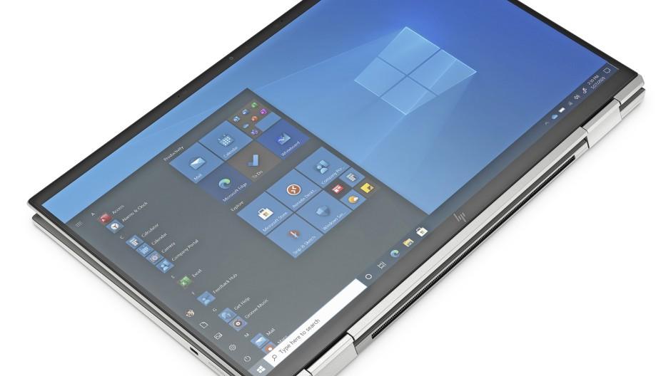 Klappt doch: HP Elitebook mit Windows und zurückgeklappter Tastatur