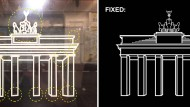 "Wrong vs. Fixed: Die BVG-Version des Brandenburger Tors und die der Designer von ""Fix Brandenburger Tor"""