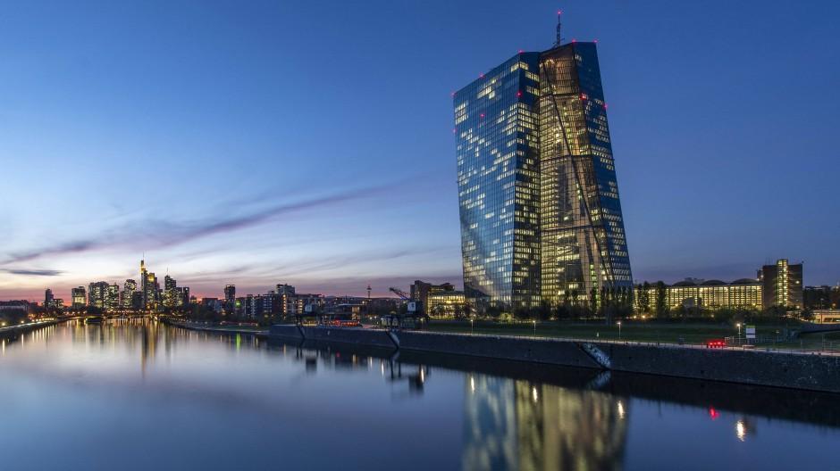 Die Europäische Zentralbank (EZB) im Frankfurter Ostend.
