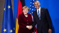 Bundeskanzlerin Angela Merkel mit Präsident Barack Obama im November vergangenen Jahres im Kanzleramt.