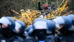 Hunderte protestierten im Dannenröder Forst