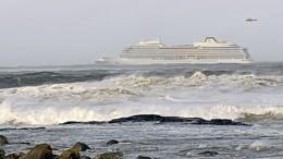Kreuzfahrtschiff in Norwegen sicher in Hafen angekommen
