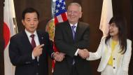 Verteidigungsminister: Mattis mit Han aus Südkorea und Frau Inada aus Japan