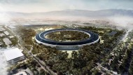 Simulation des neuen Apple-Campus in Kalifornien