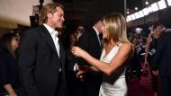 Eine Begegnung, die für wochenlange Spekulationen sorgte: Brad Pitt und Jennifer Aniston bei der Verleihung der Screen Actors Guild Awards