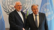 Irans Außenminister Muhammad Dschawad Zarif trifft am Donnerstag in New York UN-Generalsekretär Antonio Guterres.