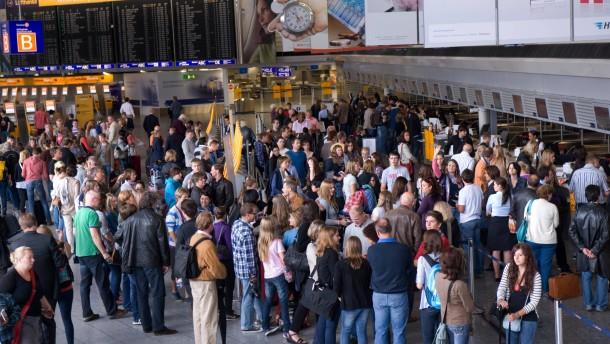 An deutschen Flughäfen droht turbulente Woche
