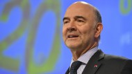 EU-Wirtschaftskommissar Pierre Moscovici vergangene Woche in Brüssel