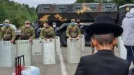 Abgesperrt: Die Ukraine verweigert Pilgern den Zutritt.
