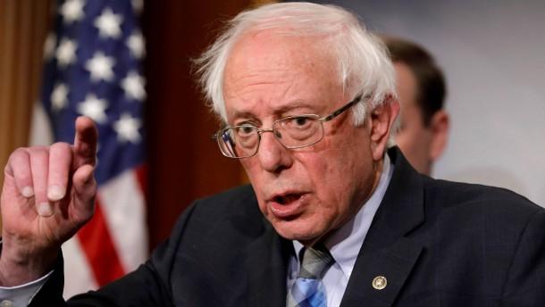 """Sanders will """"krankhaften Betrüger"""" aus Weißem Haus drängen"""