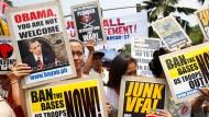 Proteste gegen Obama-Besuch