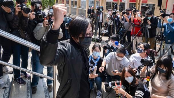 Oppositionelle und Aktivisten in Hongkong angeklagt