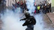 Zusammenstöße bei Protesten in Quito vergangenen Dienstag