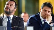 Die Koalition ist am Ende: Italiens Innenminister Matteo Salvini (links) und Ministerpräsident Giuseppe Conte