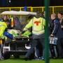 Weniger als eine Minute nach Spielbeginn musste der russische Nationaltorhüter vom Platz gebracht werden, das Spiel wurde unterbrochen.