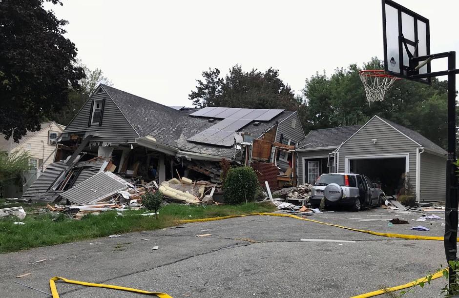 Ein Haus in Lawrence, Massachusetts, wurde bei einer Gasexplosion zerstört.