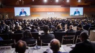 António Guterres, Generalsekretär der Vereinten Nationen, spricht bei der Eröffnung der UN-Konferenz zum Migrationspakt.