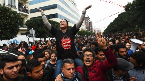Heftiger Protest gegen tunesische Regierung