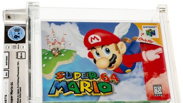 """Videospielkassette """"Super Mario 64"""" für 1,31 Millionen Euro versteigert"""