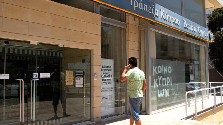 Schwergewicht: Die Bank of Cyprus in Nikosia
