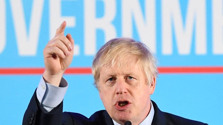 Boris Johnson nach seinem Wahlsieg in London