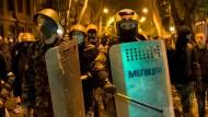 In Odessa demonstrieren Unterstützer der Übergangsregierung