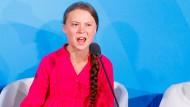 Las den Mächtigen die Leviten: Klimaaktivistin Greta Thunberg am Montag beim UN-Klimagipfel in New York