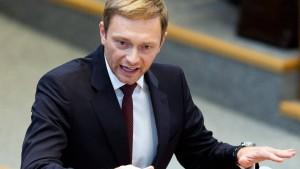 FDP wieder bei fünf Prozent