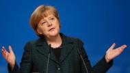 Merkel wirft SPD Bankrotterklärung vor