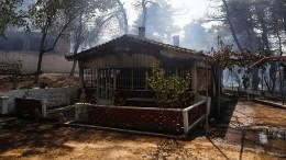 Waldbrände nördlich von Athen