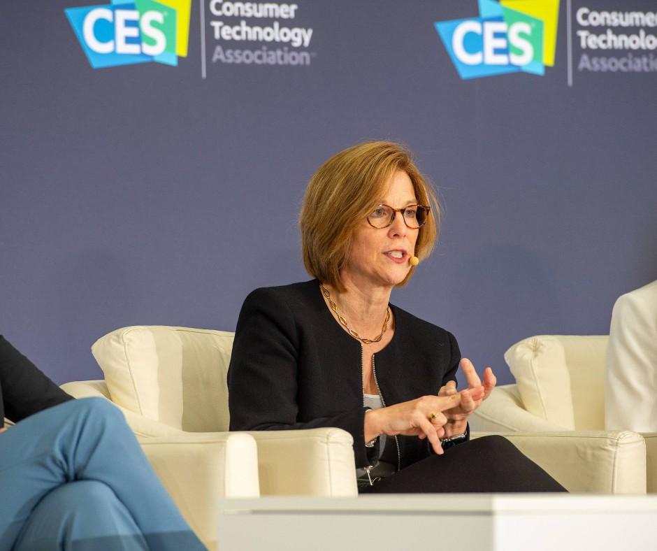 Apples Datenschutzchefin Jane Horvath auf der Technik-Messe CES im Januar 2020