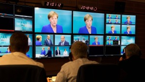 Schulz punktet, Merkel gewinnt