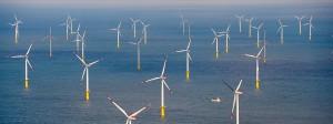 Der Offshore-Windpark Butendiek etwa 30 Kilometer vor Sylt in der Nordsee