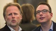 Und wer trägt hier die Gesamtverantwortung? Bürgermeister Olaf Cunitz (links) und der Fraktionsvorsitzende der Grünen Manuel Stock.