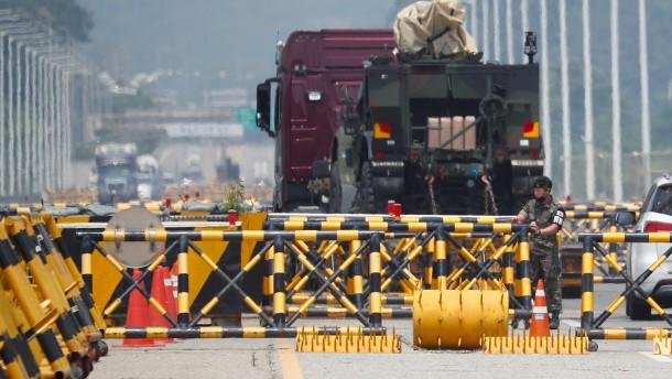 Nordkorea riegelt Grenzstadt ab