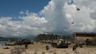 Das russische Militär bei einer Übung in Abchasien. Seit 2008 kontrolliert Russland die abtrünnige Region.
