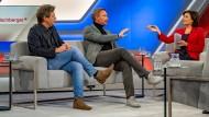 Robert Habeck und Christian Lindner zu Gast bei Sandra Maischberger.