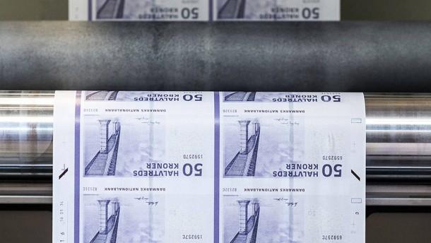 Dánská centrální banka přestává tisknout bankovky