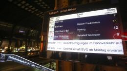 Bahn-Mitarbeiter streiken bundesweit