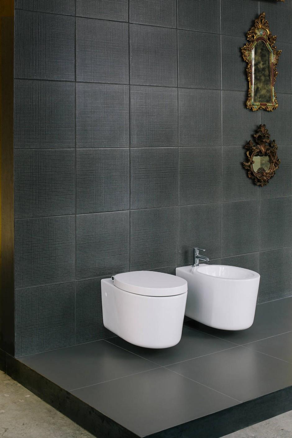 toilette und bidet die piero lissoni f r den. Black Bedroom Furniture Sets. Home Design Ideas