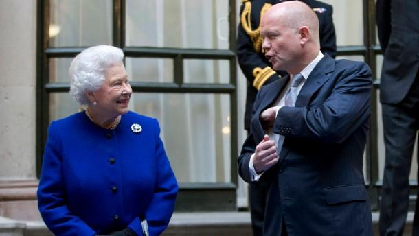 Eine Königin besucht ihre Regierung