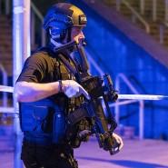 Streng bewacht: Manchester glich in der Nacht zu Dienstag einer Festung