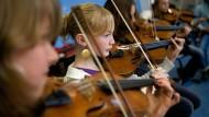 Musikinstrumente: 80 Prozent Talent, 20 Prozent Übung.