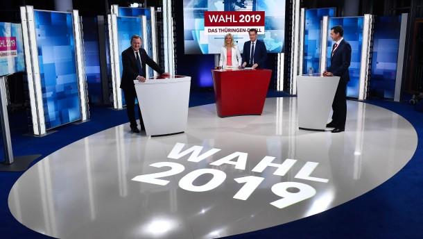 Duell und Vierkampf vor Thüringer Landtagswahl