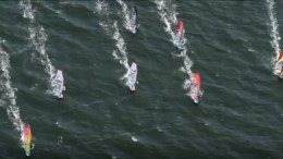 Hohes Tempo bei der Windsurf-Weltmeisterschaft